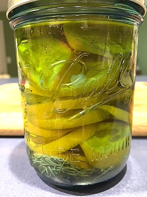 lemon oil in jar